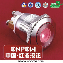 ONPOW 19mm momentary 1NO illuminated  pushbutton switch GQ19F-10D/R/12V