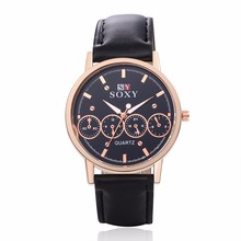 Hot Sale  Luxury Quartz Sport Military Stainless Steel Dial Leather Band Wrist Watch MenWatches Unique Leather Hot Sales