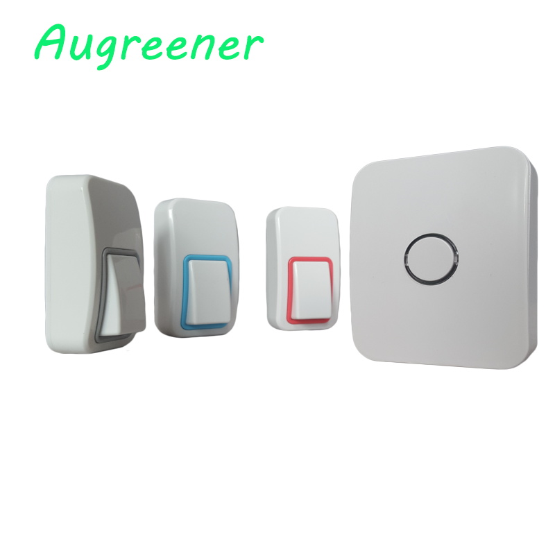 AC100-240V no battery wireless door bell with 25 chimes with low price.3 buttons+1receiver high quality for the old and young<br>