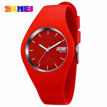 Watch Women SKMEI brand Fashion Casual quartz watch Men watches Montre Femme Reloj Mujer Silicone Waterproof Sport Wristwatches(China)