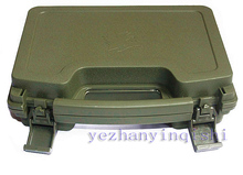 ABS plastic box Pistol Case Tactical Hard Pistol Case gun Case Padded terms Lining (green) - Free shipping(China)