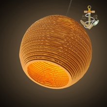 Small town retro chandelier Hotel Der Bar honeycomb naked pupa cafe personalized leather cardboard Chandelier ZH GY187(China)