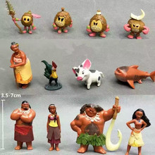 12 Pcs/Set Moana PVC Princess Toy Waialiki Maui Heihei Adventure Action Figures Collection Dolls Children Gift