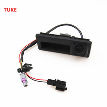 TUKE 1Pcs 12V Car RGB Reversing Video Camera Webcam For VW Tiguan A4 A7 S6 Q5 A6 A5 RNS510 RCD510 5ND 827 566 C 5ND827566C(China)