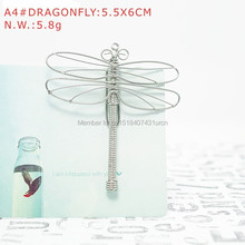 A4 DRAGONFLY PAPER/NOTE CLIP PRACTICAL/NOVELTY/CREATIVE STAINLESS HAND-MADE ART CRAFTS WEDDING&BIRTHDAY&HOME&OFFICE&GIFT&PRESENT(China)