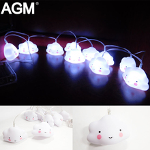 AGM Mini Cloud Night Light String Lamp Novelty Lovely Luminaria Battery For Bedroom Baby Sleeping light Toy Gift Room Decoration