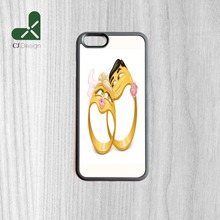 funny wedding rings Pattern DIY Printing Manufacture Phone Accessories Protection Cover For iPhone 6 6s And 4 4s 5 5s 5c 6 Plus(China)