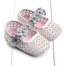 New arrived Spring autumn baby first walkers wholesale flower mesh baby girl shoes toddler soft bottom shoes(China)
