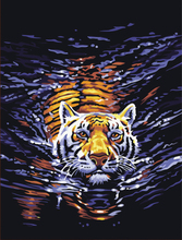 5D DIY Partial Diamond Painting Cross Stitch Swimming Tiger Picture Diamond Embroidery Mosaic Pictures Diamond Peinture Diamant