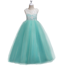 Buy Teen Dresses Girls Kids Evening Prom Wedding Gown Little Girls Party long Dresses Birthday Wedding Outfits Children Girl clothes for $12.83 in AliExpress store