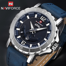 Buy NAVIFORCE Luxury Brand Men Sport Watches Leather Quartz Clock Men Waterproof Wrist Watch Male Military Watches Relogio Masculino for $15.99 in AliExpress store