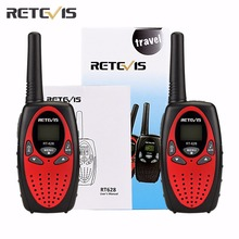 2 pcs RT628 Kids Retevis Walkie Talkie Transceiver UHF Frequency Portable 0.5W 446MHz LCD Display Toy Radio Communicator A1026(China)