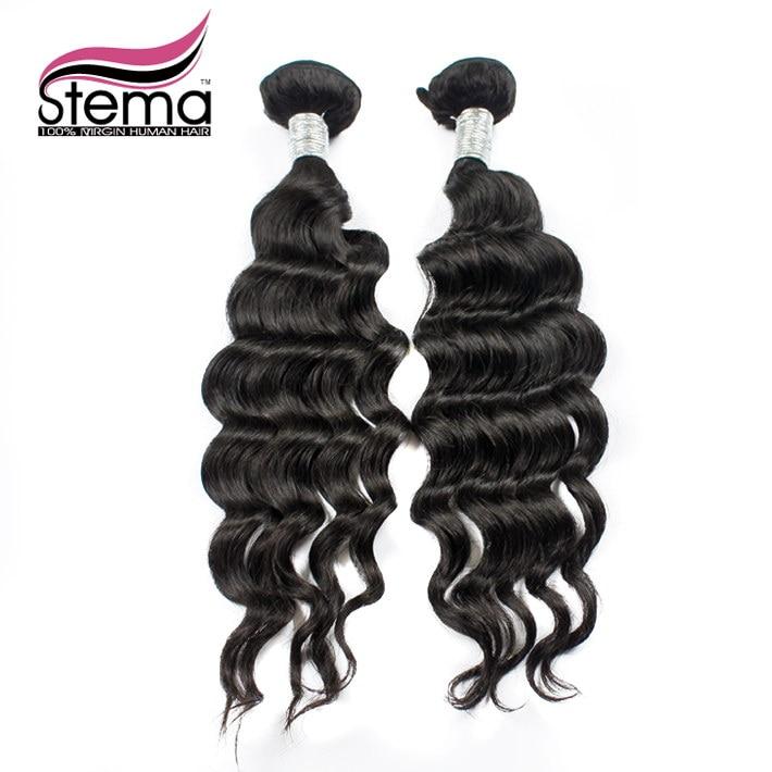 Free Shipping Stema Hair Extensions Brazilian Loose Body Wave Human Hair Bundles 2pcs/lot Brazilian Hair Weaving  No Tangle<br><br>Aliexpress