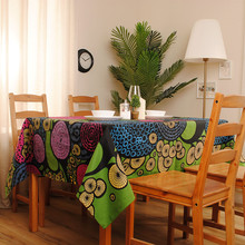 European Modern Abstract Style Cotton Tablecloth / table cloth for Dining Table Tea Towel Accept Customized