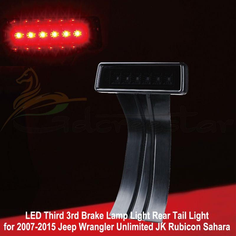 Smoke Lens 07-15 JK Wrangler &amp; Wrangler Unlimited JK 3rd LED Third Brake Tail Lights In additional brake lights used for Jeep<br><br>Aliexpress