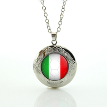Football team jewelry Italy England Greece Honduras Ivory Coast Japan Mexico Netherlands Russia team logo locket necklace N506