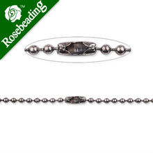 2.4mm diameter Ball Chain Connector, 24inch long Antique Silver plated Copper Ball Chain Necklaces;receive as a finished chain(China)