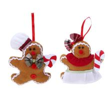 Christmas Tree Ornament Gingerbread Man Xmas Hanging Pendant Doll Decoration Navidad For Homes Pendant Gift Supplies New(China)