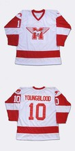 Men Hockey Custome Jersey 10 Youngblood 9 Derek Sutton 20 Keanu Reeves Heaver Stitched Youngblood Movie Hockey Jersey Viva Villa(China)