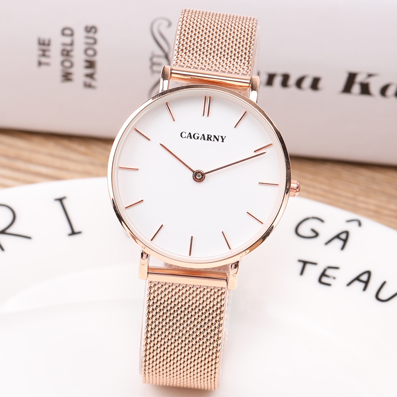 New Luxury Watch Women Rose Gold Silver Casual Quartz-Watch Steel Watch Clock Ultra thin Simple Watch Relojes Mujer Montre Femme<br>