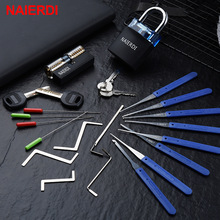 Lock-Pick-Set Hardware Hand-Tools-Supplies Practice-Padlock Transparent Broken-Key NAIERDI