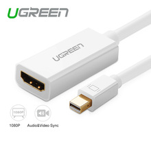 Ugreen Mini DP Thunderbolt to HDMI Cable Male to Female DP Converter Adapter Display Port for PC Macbook 1080P HDTV Projector
