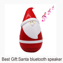 KT08 Christmas Santa Tumbler Wireless mini Bluetooth speaker TF card Waterproof Anti fall Aux line in Portable speakers present(China)
