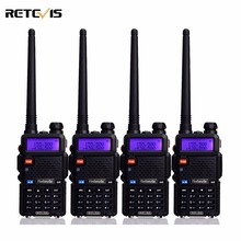 4 pcs Two Way Radio Walkie Talkie Retevis RT-5R 5W 128CH VHF UHF Dual Band FM Radio VOX DTMF Scan Portable Amateur Radio Station