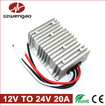 DC to DC Car Power Converter 12V to 24V 20A Step-up Regulator 500W Boost Module Waterproof
