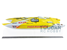 "50"" Big Fiber Glass Gas RC Boats KIT Bare Hull Only G30F Yellow Toy Boats Prepainted Catamaran RC Boats"