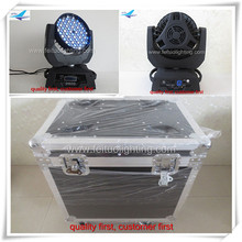 (2lot/CASE)color stage lights moving wash 3w led driver 108 moving heads lighting fixtures flight case
