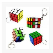Small magic cube pendant key circle puzzle package hanging key pendant creative jewelry key chain(China)