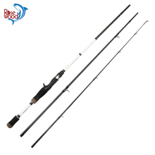 RoseWood High Carbon Fishing Rod Spinning 2.28m M Actions 3 Sections Casting Rod Fishing Products China De Pesca White Color(China)