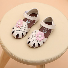 2017 Summer Children'S Sandals With Flower Kids Footwear Baby Girls Comfortable Breathable Girl Sandals Baby Fashion Shoes(China)