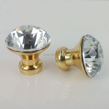 New 10pcs 30mm K9 Crystal Cabinet Knobs Chest Handels Furniture Drawer Handles Wardrobe Pulls Cupboard Shoes Box Knobs(China)