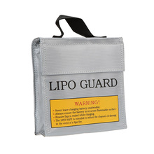 15.5 * 15.5 * 5cm Silver High Quality Glass Fiber RC LiPo Battery Safety Bag Safe Guard Charge Sack for RC Toys Hobbies(China)