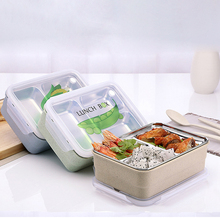 3-Grids Portable Cute Mini Japanese Bento Lunch Boxs Set Steel Thermal Lunch Boxs Kids Picnic Food Container For Food Storage