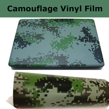 Digital Camo Wrap Film Matt Camouflage Vinyl Wrap With Air Bubble Free Camo Graphic Digital Car Wrap Foil Size 1.52x30m/Roll