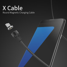 Lowest Price WSKEN X-cable Round Magnetic 2.4a High Speed Charging Magnetic Cable for Mircro USB Android Phones and Tables