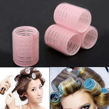 2015 New Portable 6pcs/set Grip Cling Hair Styling Roller Curler Hairdressing DIY Tool 7 Sizes 5GVU