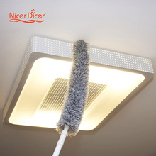 New 179CM Magic Telescoping Anti Static Soft Microfiber Cleaning Duster Brush Dust Cleaner Handle Natural Feather