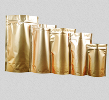 Joy 11.24 Gold aluminum foil zip lock bag gold foil bag for Food,Dried Nuts,Coffee,Tea,Beans,Snack packaging pouch(China)