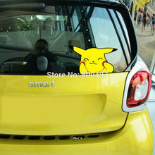 Car Styling Lovely Cartoon Animal Pet Pikachu Pokemon Sticker Decals for Toyota Peugeot Fiesta Opel Chevrolet VW Ford Lada Honda(China)