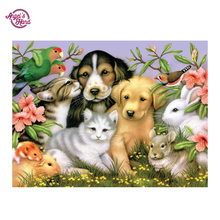 ANGEL'S HAND Diamond painting cross stitch, diamond dog pattern, colorful pictures,DIY, round diamond Embroidery
