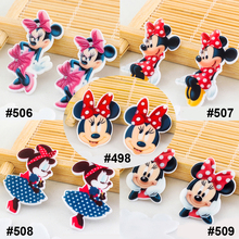50 pieces Mixed Cartoon Mouse Flatback Resin DIY Craft Embellishments Resine Kawaii Planar Resin for Home Decoration Accessories