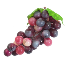 Soft Plastic Artificial Grapes Fruit Home Decoration Purple(China)