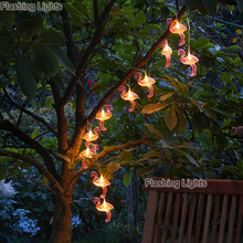 10leds Fairy Lights Flamingo Decorative LED String Night Light For Girl Room Background Home Indoor outdoor Party Decoration