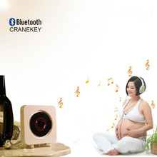 CRANEKEY Wall-mounted CD player Bluetooth FM radio CD stereo prenatal fidelity digital amplifier Free Shipping(China)