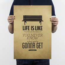 life is like a box of chocolates poster Retro Wall Art Sticker Painting Bar Pub Cafe Decoration for living room 51x35cm FX112