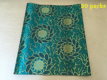 Latest design high quality African headtie,Head Gear,Sego Gele & Ipele,Head Tie & Wrapper,20packs/lot,L1530 Teal